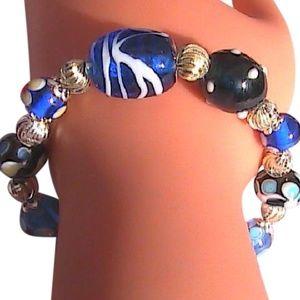 Sterling Silver Enamel Bead Bracelet